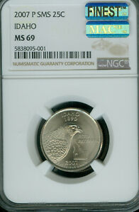 Click now to see the BUY IT NOW Price! 2007 P IDAHO QUARTER NGC MS69 SMS MAC FINEST POP 6 MAC SPOTLESS