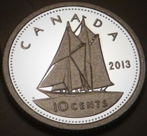 2013 CANADA PROOF PURE SILVER TEN CENTS 10 COIN FROM PROOF SET   SILVER DIME
