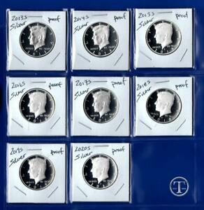 Click now to see the BUY IT NOW Price! 2013 S   2020 S SILVER PROOF KENNEDY HALF DOLLAR SET   EIGHT COINS