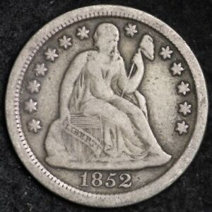 1852 SEATED LIBERTY DIME CHOICE VF   E240 YCM