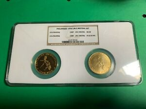 Click now to see the BUY IT NOW Price! PHILIPPINES 1976 1500 PISO IMF MEETING GOLD SET NGC PR 66 ULTRA & MS 68