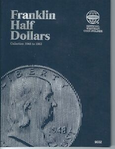 NEW WHITMAN FRANKLIN HALF DOLLARS 1948 1963