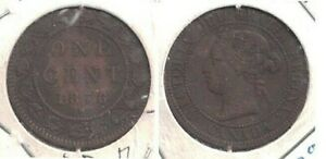 1876 H CANADA LARGE ONE CENT COIN IN LIGHTLY CIRCULATED CONDITION