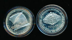 1987 S CONSTITUTION    SILVER    PROOF DOLLAR   IN CAPSULE