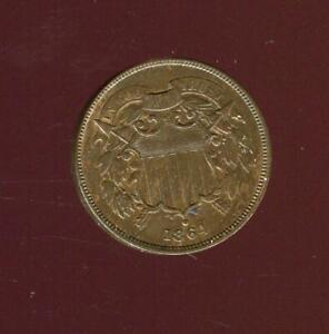 1864 2 CENT PIECE | ERROR MEDAL ALIGNMENT | LARGE MOTTO  | EXTRA FINE | CP2778