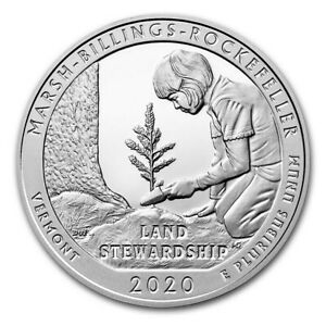 2020 5 OZ SILVER ATB MARSH BILLINGS ROCKEFELLER NATIONAL PARK