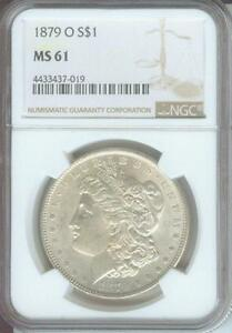 1879 O MORGAN SILVER DOLLAR S$1 NGC MS61 NEW ORLEANS MINT BETTER DATE