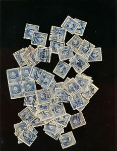 FAMOUS AMERICANS 1940   LARGE LOT OF MIXED 5 ENTS 76 STAMPS