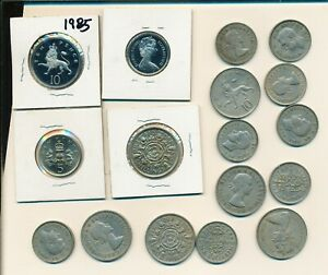 GREAT BRITAIN LOT OF 17 COINS