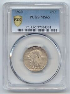 1920 STANDING LIBERTY QUARTER PCGS SECURE MS 65