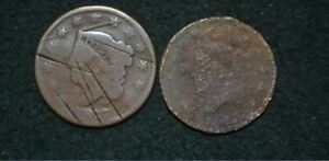 1827  LARGE CENT AND 1817 LARGE CENT   CULL   BARGAIN PRICE