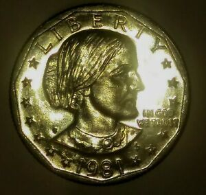 1981 S SUSAN B ANTHONY DOLLAR PROOF LIKE WITH LAMINATION ERROR ON RIM