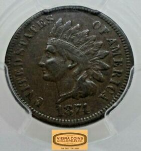 1874 INDIAN HEAD 1 CENT NGC VF25   18321