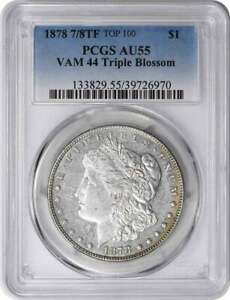 Click now to see the BUY IT NOW Price! 1878 7/8TF MORGAN SILVER DOLLAR VAM 44 TRIPLE BLOSSOM AU55 PCGS