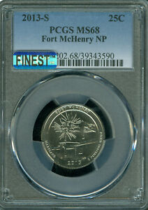 Click now to see the BUY IT NOW Price! 2013 S FORT MCHENRY QUARTER PCGS MS 68 MAC FINEST MAC SPOTLESS