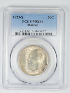 Click now to see the BUY IT NOW Price! MS66  1923 S MONROE DOCTRINE CENTENNIAL COMMEMORATIVE HALF DOLLAR   PCGS  8819