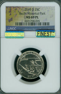 Click now to see the BUY IT NOW Price! 2019 D WAR PACIFIC GUAM QUARTER NGC MAC MS69 PL PQ FINEST GRADED SPOTLESS  ..