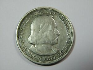 1893 COLUMBIAN EXPO SILVER 1/$ NICE XF AU COIN