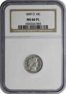 Click now to see the BUY IT NOW Price! 1899 O BARBER SILVER DIME MS66 PL NGC