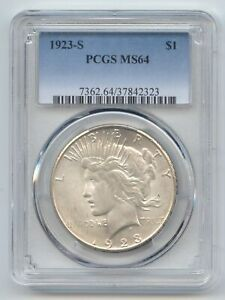 1923 S PEACE DOLLAR PCGS MS 64