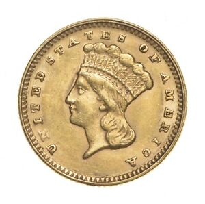 CHOICE AU/UNC $1.00 UNITED STATES GOLD COIN 1874 $1 LIBERTY HEAD   HISTORIC  516