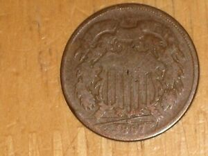 US 1867 2 CENTS COIN