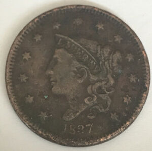 1837 LARGE CENT CIRCULATED CCC964