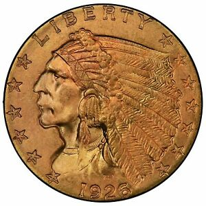Click now to see the BUY IT NOW Price! 1926 $2.50 GOLD INDIAN PCGS MS66   CAC