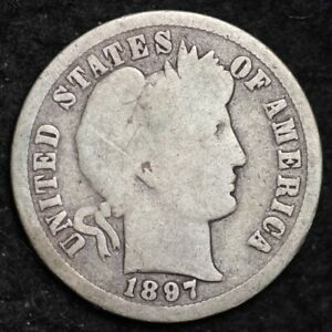 1897 O BARBER DIME CHOICE G /VG  E196 AMT