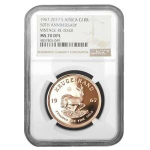 Click now to see the BUY IT NOW Price! SDAFRIKA   1 RAND 2017   1967 VINTAGE KRGERRAND   NGC MS DPL 70   1 OZ GOLD PP