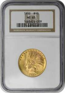 Click now to see the BUY IT NOW Price! 1932 $10 GOLD INDIAN MS65 NGC