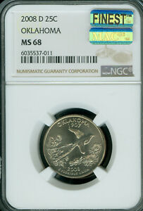 Click now to see the BUY IT NOW Price! 2008 D OKLAHOMA QUARTER NGC MAC MS 68 PQ MAC FINEST BUSINESS STRIKE SPOTLESS