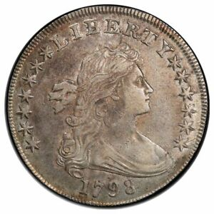 1798 $1 DOLLAR BUST LARGE EAGLE PCGS AU50