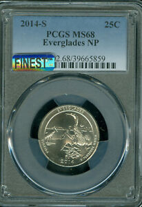 Click now to see the BUY IT NOW Price! 2014 S EVERGLADES. QUARTER PCGS MAC MS 68 MAC FINEST & SPOTLESS