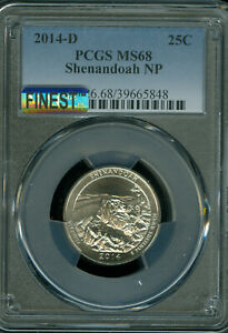 Click now to see the BUY IT NOW Price! 2014 D SHENANDOA QUARTER PCGS MS68 MAC MAC FINEST & MAC SPOTLESS