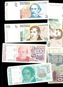 ARGENTINA LOT OF  6 DIFFERENT   AR1