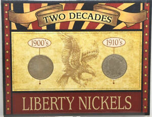 AMERICAN COIN TREASURE TWO DECADES 1900'S & 1910'S LIBERTY NICKELS
