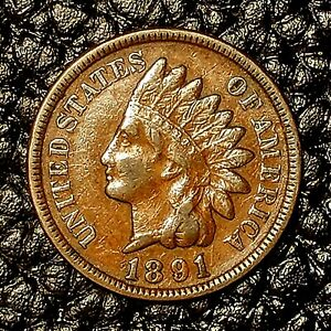 ITM 2801  1891 INDIAN HEAD CENT   XF CNDTN   $20 ORDERS SHIP FREE