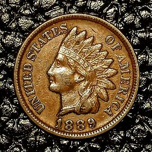 ITM 2764  1889 INDIAN HEAD CENT   XF/AU CNDTN   $20 ORDERS SHIP FREE