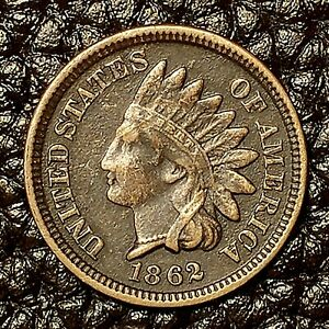ITM 2867  1862 INDIAN HEAD CENT   XF  CNDTN   $20 ORDERS SHIP FREE