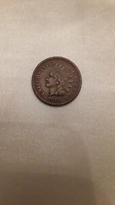INDIAN HEAD PENNY 1866 FULL LIBERTY GREAT DETAILS COLLECTIBLE