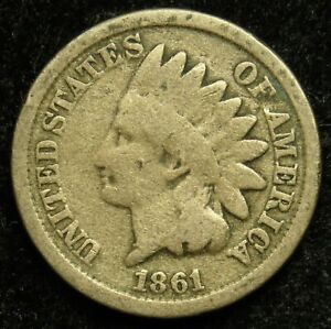 1861 INDIAN HEAD CENT PENNY G GOOD  B01