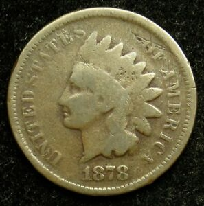 1878 INDIAN HEAD CENT PENNY G GOOD  B01