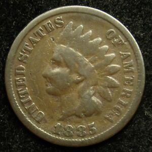 1885 INDIAN HEAD CENT PENNY G GOOD  B01