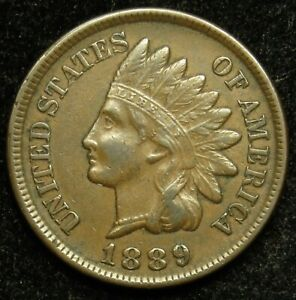 1889 INDIAN HEAD CENT PENNY EF EXTRA FINE  B01