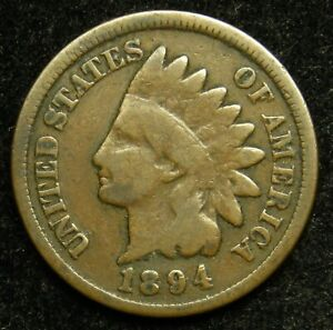 1894 INDIAN HEAD CENT PENNY G GOOD  B01