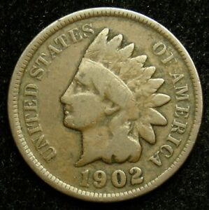 1902 INDIAN HEAD CENT PENNY G GOOD  B03