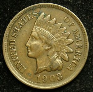1903 INDIAN HEAD CENT PENNY VF FINE  B04