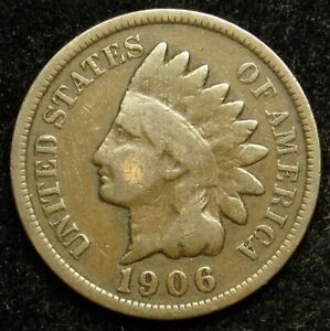 1906 INDIAN HEAD CENT PENNY G GOOD  B01