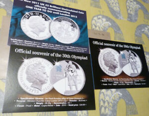 3 PUBLICITY CARDS FOR OLYMPICS COINS  20.2.30